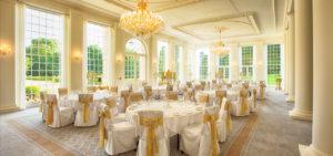 Orangery Interior Wedding Set Up Rushton Hall