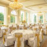 Orangery Wedding Set Up Rushton Hall