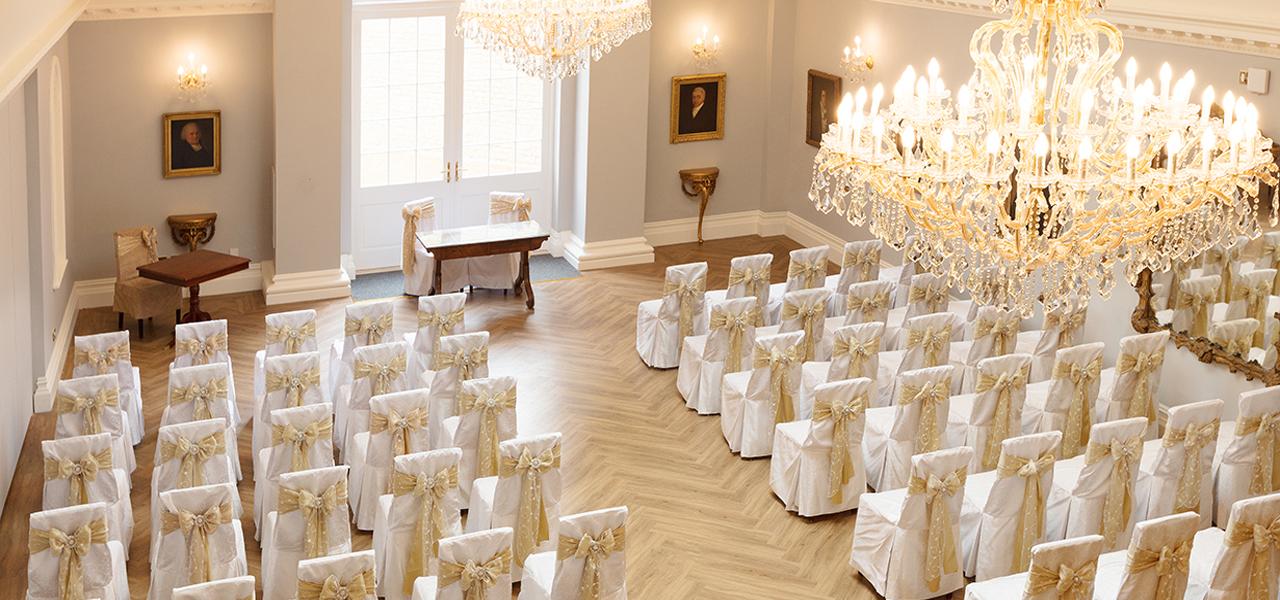 wedding rooms rushton hall